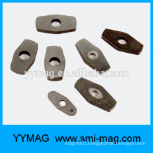 High quality diamond shaped sintered alnico magnets