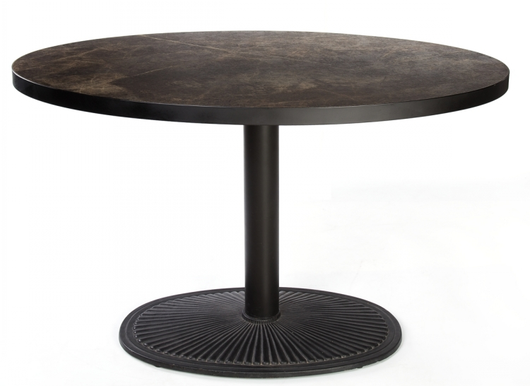 Faux Marble Wooden Restaurant Round Fireproofing Tables