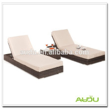 Audu Brown Double Man Aluminium Rattan Sunbed