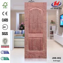 JHK-002 Dos paneles Deep Groove de alta calidad MDF proyecto moldeado Americal Bubinga puerta Mmaterail