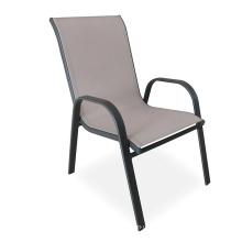 Outdoor Furniture Arm Mesh Steel Stack Chair for Garden