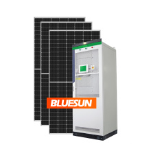 High efficiency 3 phas hybrid home solar power system 30kw 50kw 100kw solar grid tie battery storage system for home