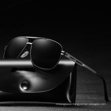 High Quality Classical Polarized TAC Lens Sun Glasses Mens Metal Frame Sunglasses