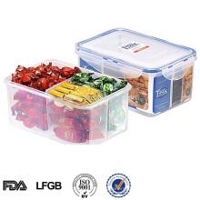 herausnehmbarer Fach-Nahrungsmittelbehälter, easylock Plastikschnitt-Nahrungsmittelbehälter