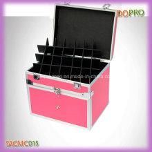 Profissional rosa portátil nail art caixa de ferramentas com divisores (saccam015)