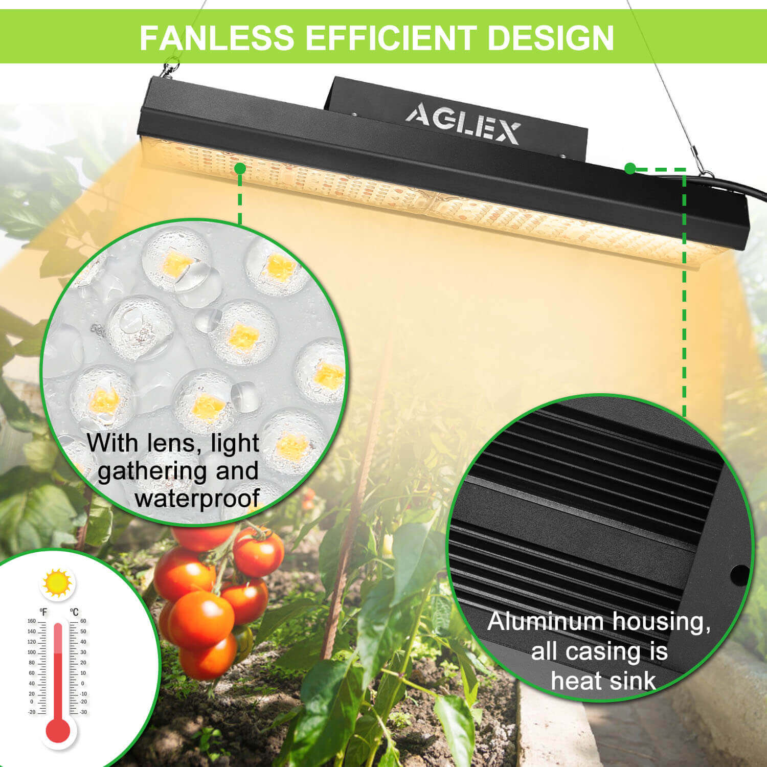 waterproof led grow light