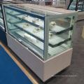 витрина холодильника пекарня полка стеклянная витрина торт