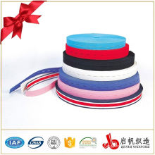 Colorful woven elastic buttonhole belt strap webbing