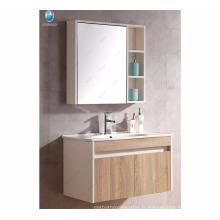Fabriqué en Chine usine concise MDF armoire miroir salle de lavage armoires