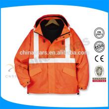 Chaqueta de seguridad reflectante de alta visibilidad naranja