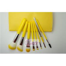 8PCS conjunto de escova cosméticos bonito com um malote