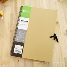 Retro Vintage Diário Diário Notebook Couro Em branco Hard Cover Sketchbook Paper