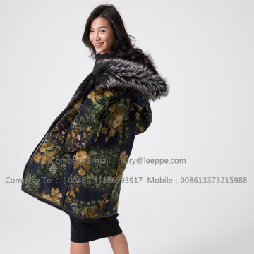 Winter Reversible Mink Overcoat voor Lady