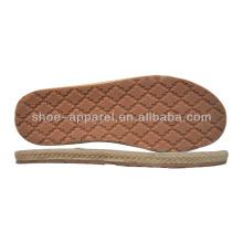 Chaussures ramie pas cher Semelles fabricants en gros Semelle en caoutchouc