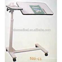 Hospital tilt top hospital table on wheels