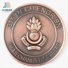 Forneça a moeda militar do metal feito sob encomenda do desafio do logotipo de 70mm para o presente da lembrança