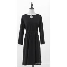 Women's Knitted Long-sleeve Dress