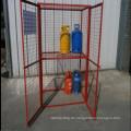 Vollverschweißter, hochwertiger Gasflaschen-Aufbewahrungskorb mit herausnehmbarem Regal