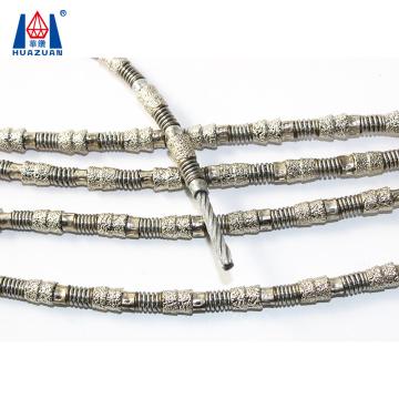 HUAZUAN diamond wire saw cutting steel pipe 11.5mm 40 beads