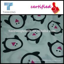 милый пингвин характер 100 хлопок саржа сатиновое плетение реактивной печати белой ткани для Пижамы детские