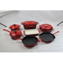 Conjuntos de utensilios de cocina de esmalte de hierro fundido 7pcs