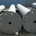 Сварной участок стальной трубы для строительства метро
