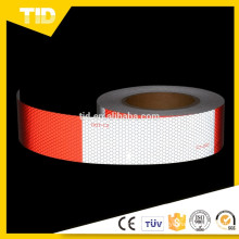 """6"""" Red+ 6""""White vehicle Conspicuity dot c2 Reflective Tape"""