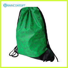 Promotional Custom Logo Printed Nylon Drawstring Backpack