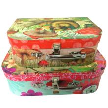 Пользовательские высокого качества Необычные картон чемодан / оптовая бумага чемодан Упаковка подарков Box