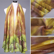 beautiful! Great silky texture right fabric women 100 voile long size print abaya head muslim hijab factory scarf