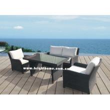 Sofá caliente de la venta fijó los muebles al aire libre Bp-588d del mimbre de la rota