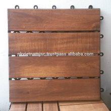 Patrones rectos con 4 láminas de azulejos de la cubierta de Acacia - cubierta impermeable al aire libre