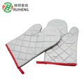 Promotional cheap heat insulation cotton kitchen oven glove for housing use