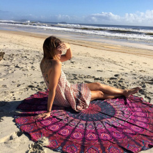 micro fiber large round beach towels india