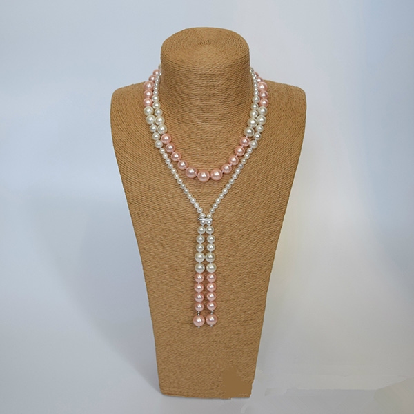 Long Shell Pearl Necklace