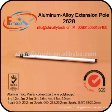 poteau de balai d'extension en aluminium durable