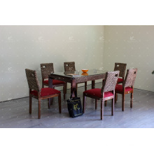 Classic Design Water Hyacinth 6 Pieces Dining Set