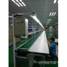 ສາຍເຄເບີ້ນ PVC Belt Conveyor Line with Assembly Workbench