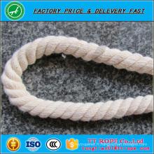 Corde de coton de couleur blanche de haute qualité à vendre corde de coton coloré