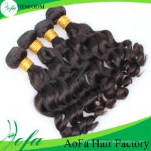7А класс человеческих 100%необработанные человеческие волосы Remy девственницы
