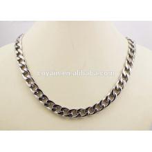 Pulsera de acero inoxidable y collar de cadena de enlace Punk conjunto de joyas