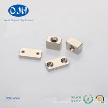 Wholesale Moto Sintered NdFeB Magnets with Two Holes