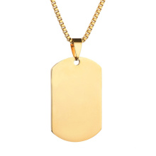 2020 New Trend Custom stainless steel military men's necklace