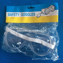 CE googles de sécurité transparent / lunettes de sécurité