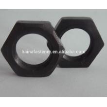 DIN 934 Negro Acero al carbono Hex Thin Nut