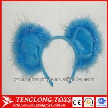 Bonitos e encantadores faixas de cabelo azul de pelúcia para crianças