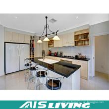 Acristalamiento blanco cálido muebles de armarios de cocina (AIS-K186)