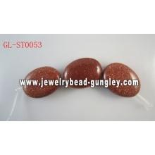 Овальной формы природных драгоценных камней бусы