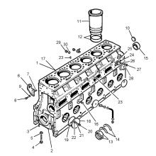 Piezas de repuesto del motor Diese