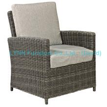 Balcony Rattan Armchair with Cushion Garden Furniture
